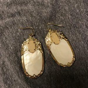 White Kendra Scott Deva Earrings